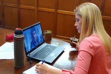 Magario mantuvo reuniones virtuales con senadores y senadoras para coordinar acciones a seguir