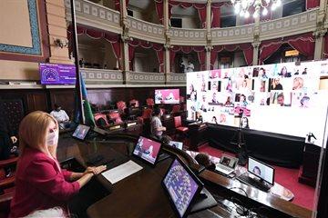 En el Senado bonaerense seguimos trabajando para poder llevar a cabo las sesiones virtuales