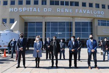 Verónica Magario participó en la inauguración del Hospital Favaloro de La Matanza