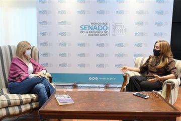 Verónica Magario se reunió con la titular del Consejo Nacional de Coordinación de Políticas Sociales