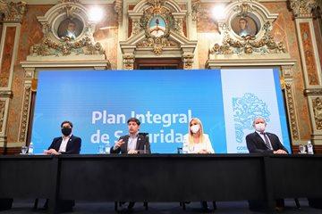 Magario, con Kicillof en el lanzamiento del Plan Integral de Seguridad