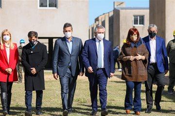 Magario participó de un acto con Alberto Fernández, Cristina Fernández de Kirchner, Kicillof y Massa