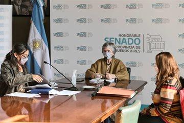 Reunión de comisiones en el Salón Antonio Cafiero