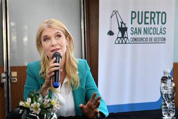 """Magario: """"Trabajamos para  desarrollar todos los puertos y polos productivos de nuestra provincia"""""""